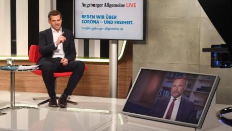 Chefredakteur Gregor Peter Schmitz und FDP-Chef Christian Lindner sprachen über Videoschaltung miteinander.