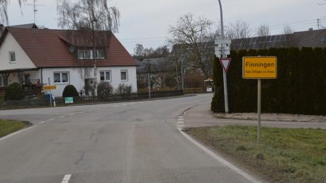 Der Ortseingang von Finningen
