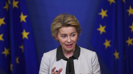 Ursula von der Leyen, Präsidentin der Europäischen Kommission, spricht im Dezember 2019 bei einer Pressekonferenz über den «Green Deal».