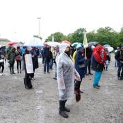 Auf dem Plärrer Volksfestplatz fand am Samstag eine Corona-Demo statt.
