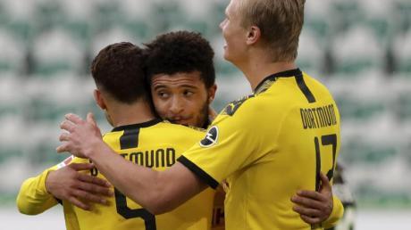 Will mit dem BVB auch gegen die Bayern Grund zum Jubel haben: Erling Haaland (r).