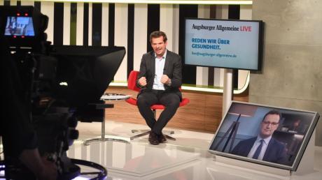 Live im Talk: Gesundheitsminister Jens Spahn mit AZ-Chefredakteur Gregor Peter Schmitz.