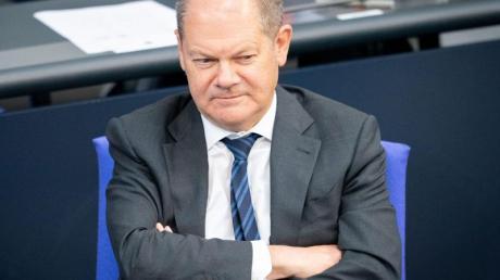 Bundesfinanzminister Olaf Scholz während einer Debatte im Bundestag.