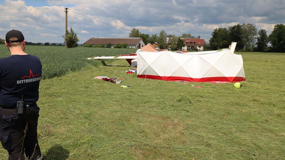 In Günzburg ist ein Segelflugzeug abgestürzt.