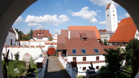 Blick vom Schloss auf Leipheim.