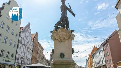 Die Augsburger Innenstadt mit ihren vielen Brunnen lädt zu einem Rundgang ein.