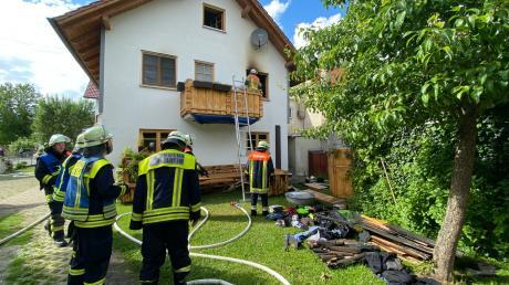 Die Feuerwehren Dirlewang und MIndelheim waren am Montagnachmittag  im Einsatz.