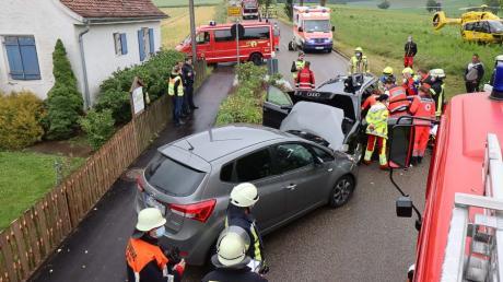 Zwei Schwerverletzte gab es bei diesem Unfall in Unterrohr.