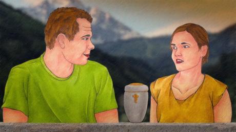 """Screenshot aus dem Animationsfilm """"Sternenstaub und Seelenvogel""""."""