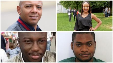 Mimo Ghonim (o.l.) , Joana Reisner (o.r.), Steven Asumang (u.r.) und Stanley Eboehi (u.l.) aus dem Landkreis haben sich zum Thema Rassismus geäußert.