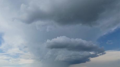 Über Nordschwaben und der umliegenden Region gingen am Wochenende mehrere Gewitter nieder.