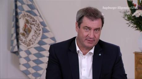 """Markus Söder bei """"Augsburger Allgemeine Live""""."""