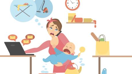 Meistens liegt es an den Müttern, den Haushalt zu organisieren und an alle anstehenden Aufgaben zu denken.