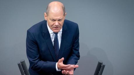 Finanzminister Olaf Scholz (SPD) bei der Debatte um die Verabschiedung des zweiten Nachtragshaushalts und der Grundrente im Bundestag.