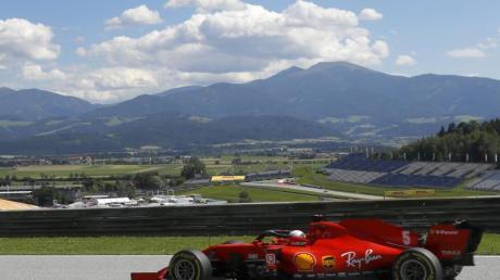 Sebastian Vettel kam in Österreich nur auf Platz zehn.
