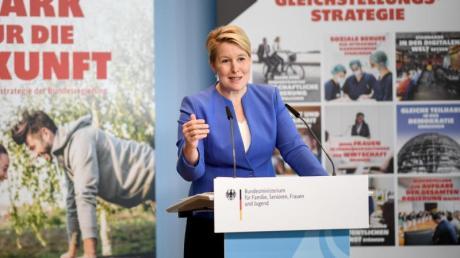 Familienministerin Franziska Giffey präsentiert die Gleichstellungsstrategie «Stark für die Zukunft».
