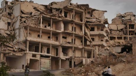 Gebäude in der Provinz Idlib sind völlig zerstört worden.