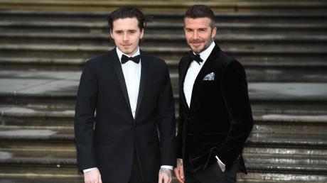 Brooklyn Beckham mit seinem berühmten Papa David Beckham.