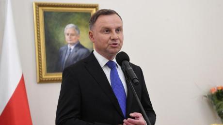 Andrzej Duda spricht im Präsidentenpalast inWarschau. In Polen amtiert der Präsident fünf Jahre lang.