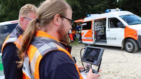 Ein Drohnenteam war auf der Suche nach dem Vermissten im Einsatz.