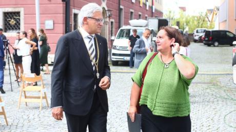 Theresa Schopper und OB Gunter Czisch beim Schwörmontag.