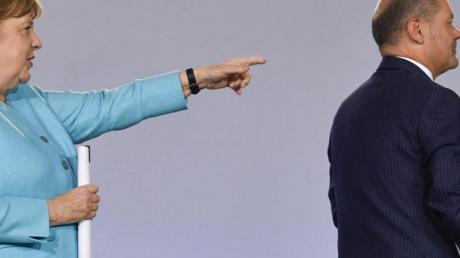 Bundeskanzlerin Angela Merkel und Finanzminister Olaf Scholz.