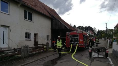 Essen in Haunsheim fängt Feuer