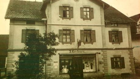 1888 wurd das neue Lechner-Geschäft in Mering gebaut.