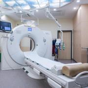 Ein Computertomograph, mit dem unter anderem die Spuren einer Covid-19-Erkrankung in der Lunge untersucht werden können.