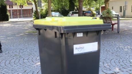 Die Gelbe Tonne wird ab Januar in Illertissen, Weißenhorn und Vöhringen alle vier Wochen geleert.