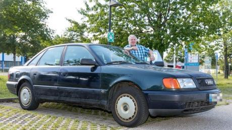 Der Audi 100 von Bernahrd Denlöffel hat inzwischen 1.487.775 Kilometer auf dem Tacho.