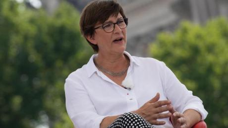 Die SPD-Bundesvorsitzende Saskia Esken im ARD-«Sommerinterview».
