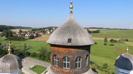Spektakulär ist der Blick vom Kirchturm aus auf die barocken Kuppeln Maria Birnbaums .