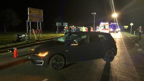 Ein Motorradfahrer wurde bei einem Unfall  bei Ziertheim schwer verletzt.