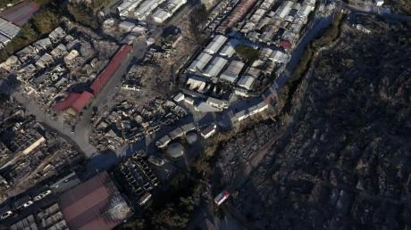 Nach dem Großbrand im Flüchtlingslager Moria auf Lesbos durften mehrere Hundert Minderjährige die Insel verlassen.