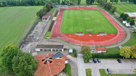 Die Sportanlage des SV Mering an der Tratteilstraße. Beim virtuellen Stammtisch waren aber auch viele andere Vereine vertreten.