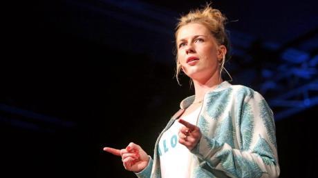 Christine Eixenberger verarbeitet im Kabarett ihren Alltag als Grundschullehrerin.