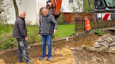 Auf der Baustelle in der Hegnenbacher Talstraße geht es voran.