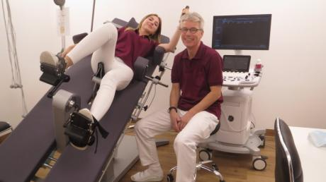 In der neu eröffneten Kardiologischen Praxis Kühbach arbeitet Dr. med. Hartwig Haase unter anderem mit diesem sogenannten Stress-Ultraschall-Gerät.