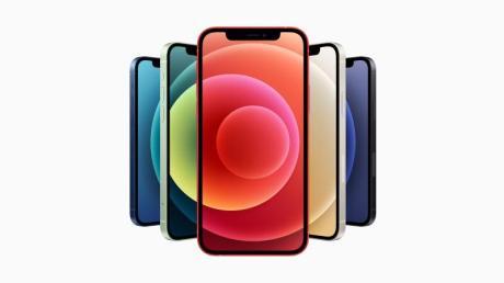 Ob groß oder klein: Alle vier neuen iPhone-Modelle unterstützen 5G-Mobilfunk und haben den schnellen A14-Chip verbaut.