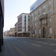 Die Grottenau in der Augsburger Innenstadt während der Corona-Ausgangsbeschränkungen Ende März dieses Jahres.