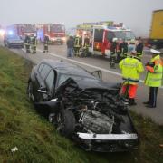 Ein schwerer Unfall ist am Montag auf der A8 zwischen dem Kreuz Elchingen und Leipheim passiert.