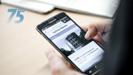 Mehr als die Hälfte der Online-Leser kommen mittlerweile mit dem Smartphone auf unsere Internetseite.