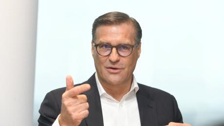 Olaf Berlien, Chef der Münchner Firma Osram, blickt trotz Corona-Pandemie zuversichtlich in die Zukunft.
