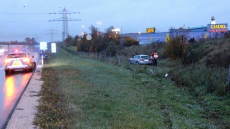 Schwerer Unfall bei Starkregen auzf der A7 bei Illertissen