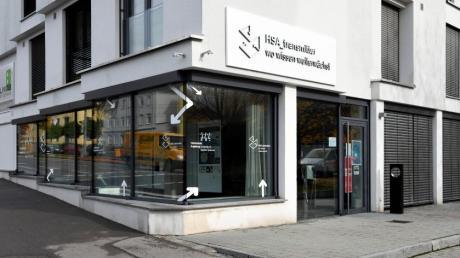 Der HSA-Transmitter an der Haunstetterstraße. Mit diesem Raum will die Hochschule im Austausch mit der Gesellschaft bleiben.