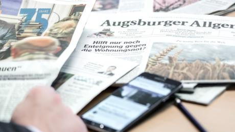 1945 erhielt Zeitungsgründer Curt Frenzel die Lizenz, eine Zeitung drucken zu dürfen. Das war die Geburtsstunde der Augsburger Allgemeinen.