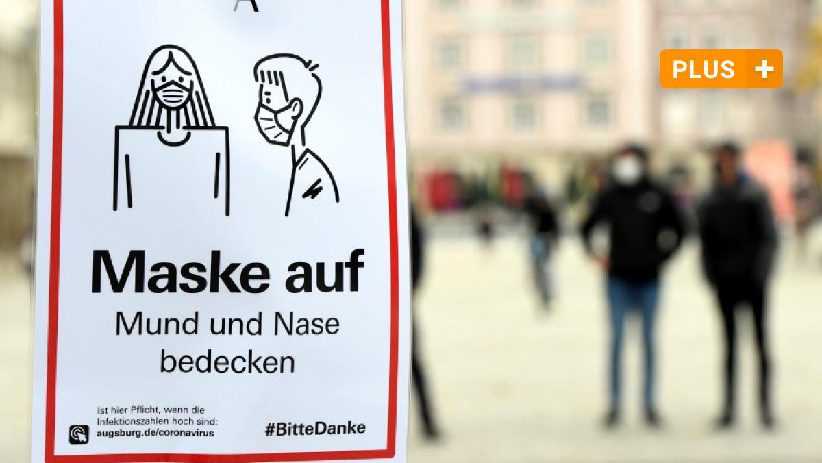 Augsburg: Maskenpflicht: Hinweisschilder in Augsburg ...
