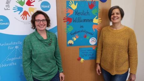 Sind im Familienstützpunkt Nord die Ansprechpartnerinnen: Angela Hammerl, Diplompädagogin, und Silvia Hradetzky, Erziehungsmediatorin.