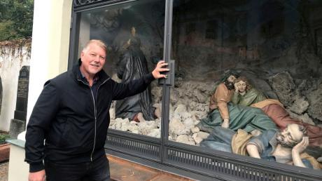 Der Metallbauermeister Robert Höck ist neuer Kreishandwerksmeister. Eines seiner Meisterstücke ist die Ölbergkapelle bei Herrgottsruh, bei deren Restaurierung er mitgearbeitet hat.